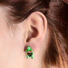 Turtle Front and Back Stud Earrings, Jewellery, Novelty, Studs, Earrings, all Fashion trends, accessories and jewellery for young women