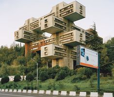 Ministry of Road Construction, Tbilisi, Georgia. Post-Constructivist