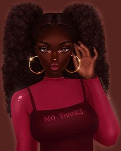 Pretty Black Girls, Black Love Art, Black Girl Art, Black Art Painting, Black Artwork, Black Bratz Doll, Drawings Of Black Girls, Black Girl Cartoon, Black Art Pictures