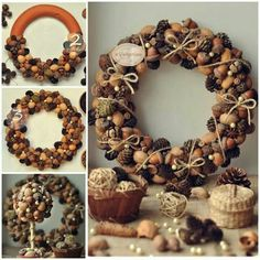 nut covered wreath