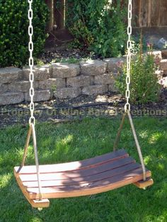 Porch Swing Made From recycled Wine Barrel Staves