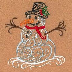 Winter Filigree Snowman - 5x7   Winter   Machine Embroidery Designs   SWAKembroidery.com Starbird Stock Designs