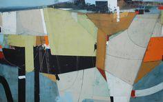 "Enclosures by Andrew Bird   Acrylic on panel   48"" x 30"" #andrewbird #tannerandlawson #cornwall #abstractart"
