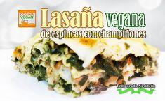 Lasaña vegana de espinacas con champiñonnes