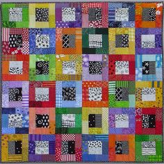 PDF Quilt Pattern -- Digital Pattern for Color Blocks wall quilt (pdf)