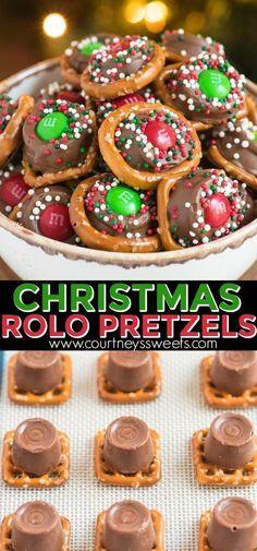 Christmas Pretzels, Easy Christmas Treats, Holiday Snacks, Christmas Sweets, Christmas Cooking, Holiday Recipes, Easy Christmas Baking Recipes, Christmas Goodies, Christmas Baking For Kids