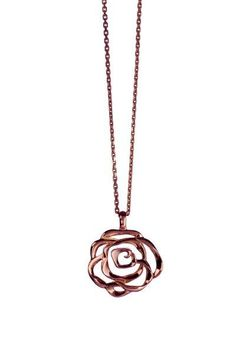 Romantic Rose necklace from Babette Wasserman. Ideal accessory for the bride on her special day.