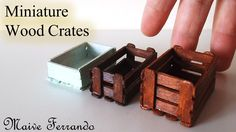 Quick and easy real wood miniature crates to use in your miniature food displays that you can make with the simplest of materials! Materials: - Coffee Stirre...