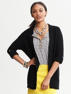Banana Republic | Chunky Knit Open Cardigan