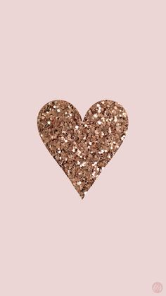 Gold heart background