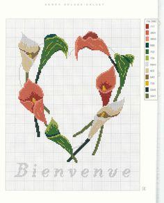Beautiful calla lily pattern.