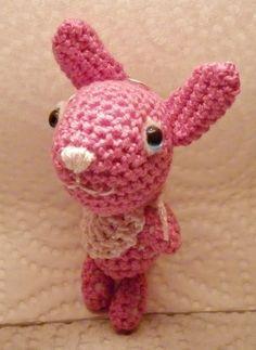 ♥ kawaii amigurumi bunny signorina porte cle ♥ di solyne creation su DaWanda.com