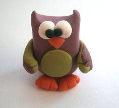 Mr Owl (Signor Gufetto) - A Little Polymer Clay Creation