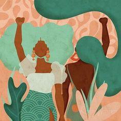 Black Girl Art, Black Women Art, Art Girl, Illustration Art Drawing, Illustrations, Art Drawings, Frida Art, Black Artwork, Afro Art