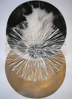 Katrine Hildebrandt - Ink and cut paper