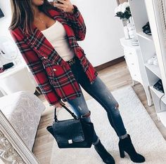 Stylish Fall Outfits To Inspire You Cute Casual Outfits, Fall Outfits, Iranian Women Fashion, Perfect Fall Outfit, Plaid Jacket, Plaid Dress, Dress Shirt, Blazer Outfits, Toddler Girls