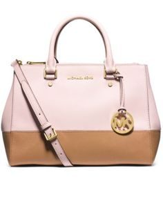 c4b59d5712 MICHAEL Michael Kors Sutton Medium Colorblock Satchel - Handbags    Accessories - Macy s LOVE this color combo!