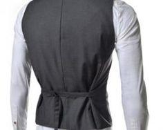 Kvalitná dvojitá pánska vesta ku obleku v sivej farbe Vest, Jackets, Dresses, Fashion, Down Jackets, Vestidos, Moda, Gowns, Fasion