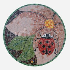 art-arte-numeral-number-joaninha-lady-bug-mosaic-mosaico-artcolor-atelie-sorocaba-são-paulo.jpg 500×501 pixels