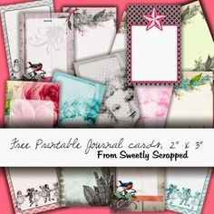 free printable 2  x  3 journal cards