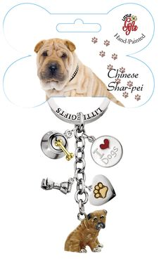 Imagine This Bone Car Magnet 2-Inch by 7-Inch I Love My Shar Pei