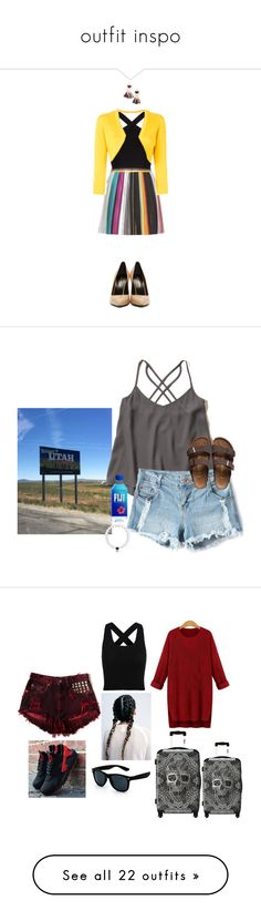 """""""outfit inspo"""" by tropical-songwriter ❤ liked on Polyvore featuring Missoni, BCBGMAXAZRIA, Oscar de la Renta, Yves Saint Laurent, MANGO, Hollister Co., Birkenstock, SCARLETT, NIKE and IKASE"""