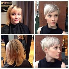 Modern Buzz-Cut - 20 Bold and Daring Takes on the Shaved Pixie Cut - The Trending Hairstyle Short Pixie Haircuts, Pixie Hairstyles, Cool Hairstyles, Pixie Haircut For Round Faces, Hairstyle Short, Wedding Hairstyles, Girl Short Hair, Short Hair Cuts, Short Hair Styles