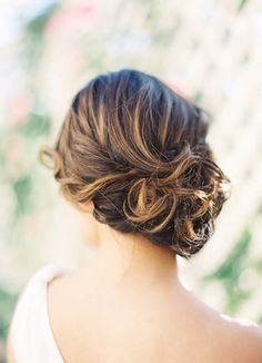 Beautiful romantic sideswept updo {Photo by Jen Huang via Project Wedding}
