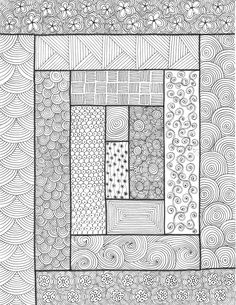 Rectangles - An original artwork by Cat Magness (very clever, take quilt patterns and zentangle inside) Art Design, Drawings, Doodle Art, Zentangle Drawings, Tangle Doodle, Zentangle Patterns, Doodle Drawings, Pattern Art, Original Artwork