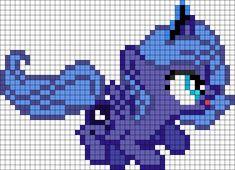 Silly Princess Luna Filly Perler Bead Pattern / Bead Sprite