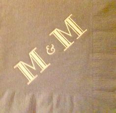 Monogrammed napkins! Perfect for weddings, anniversaries, housewarmings, etc.