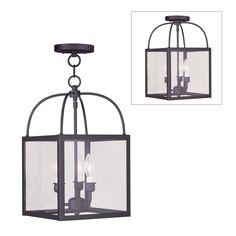 Livex Lighting 40 Milford 3 Light Convertible Ceiling Light | Lowe's Canada $263