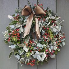 #Wreath • Rose hips, Senecio, Rosemary