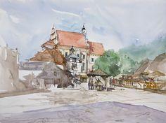 Kazimierz Dolny, 42x56cm, 2009 www.minhdam.com #architecture #watercolor…
