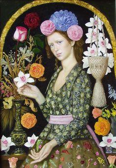 "☀ Tatyana Fedorova ☀ ""In joy or sadness flowers are our constant friends."" (Kakuzō Okakura, ""The Book Of Tea"") - via Paradigma d'Arte - Bev Doolittle, Bo Bartlett, Alex Colville, Soviet Art, Magic Realism, Portraits, Portrait Paintings, Audrey Kawasaki, Contemporary Artists"