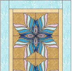 Free Quilt Pattern: Peacock Feather Table Runner