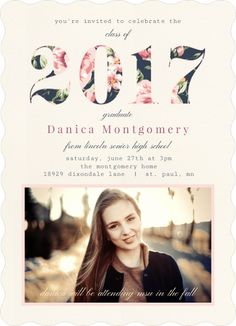 Coral Polaroid Graduation Invitation By PurpletrailCom