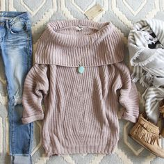 The Nubby Knit Sweater...