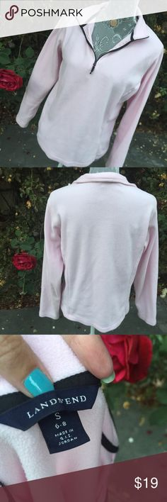 Lands End Sweater Pink Lands End Sweater, size 6-8 small, thin and warm. Lands' End Sweaters Crew & Scoop Necks