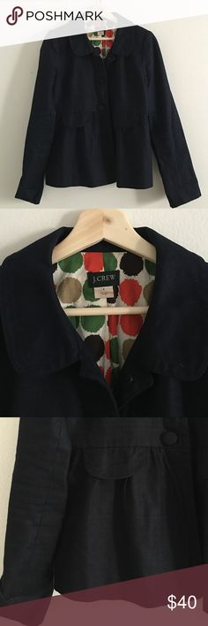 J. Crew Navy Blazer Classic navy blazer with J. Crew's amazing quality. This wardrobe staple is in excellent condition and is perfect for work. J. Crew Jackets & Coats Blazers