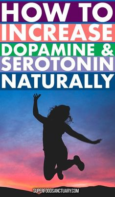 Dopamine and serotonin are both chemicals produced in the body. Serotonin is known as the happy chemical and dopamine is a 'feel good' chemical. In this article, let's look at ways how to increase serotonin and dopamine naturally! Serotonin Foods, Dopamine Supplements, Serotonin Levels, Increase Dopamine Naturally, Dopamine Increase, Health Anxiety, Brain Health, Mental Health, Adrenal Health