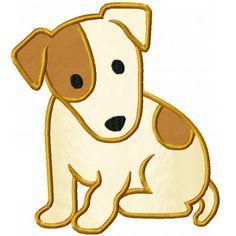 Jack Russell Terrier Applique Design