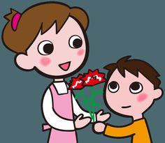 母の日の贈り物 カーネーションを贈る 感謝の気持ち イラスト