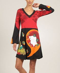 Take a look at this Red Muse V-Neck Shift Dress by Aller Simplement on #zulily today! This type of dress brings so many flash backs for me. I wore and wore them for many years.