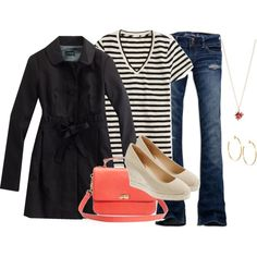 gamine & stripes, created by shopwithm on Polyvore