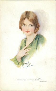 Fair of Feature, Series 1 - Marjorie Mostyn.  First used 1917