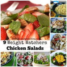 9 easy and delicious Weight Watchers chicken salad recipes, perfect for lunch or dinner, all with calorie, Smart Points Plus information, free ww recipes