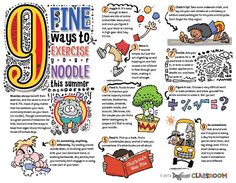 Brain exercises for kids classroom poster .pdf file