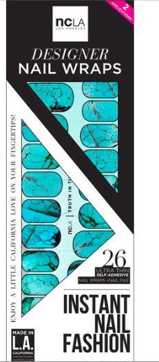 Turquoise Nail Wraps