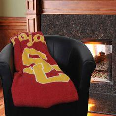 """USC Trojans 50"""" x 60"""" Jersey Sherpa Blanket - Cardinal - $32.99"""